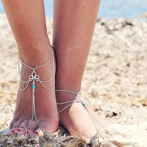 🎀Boho Style Turquoise Chain Anklet